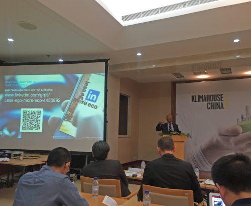 Massimo Roj speaks at Klimahouse China Congress 2016