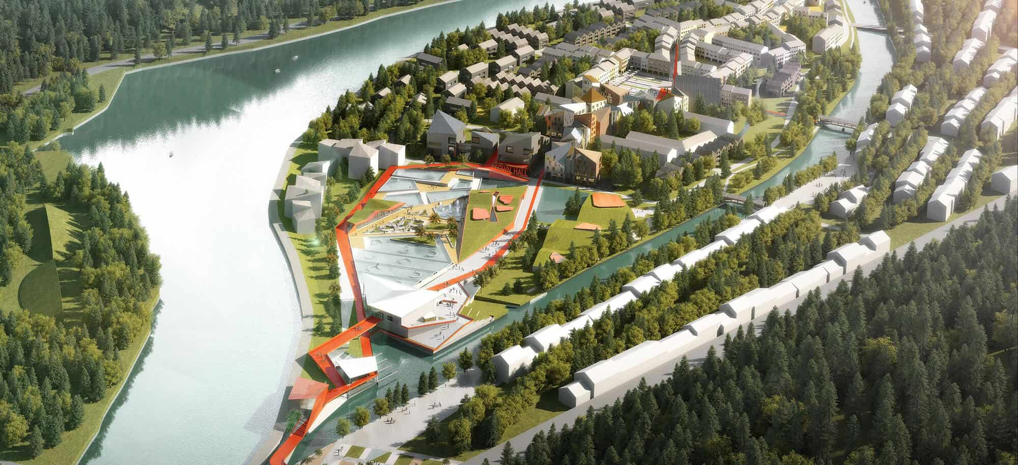 Manjiangwan masterplan progetto cmr massimo roj architects for Master architettura