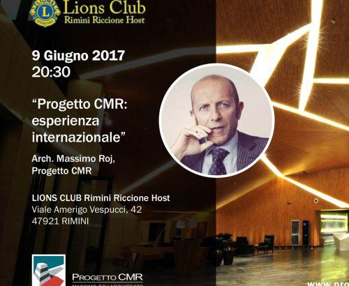 Massimo Roj al prossimo meeting del Lions Club