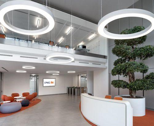 La nuova sede di ING Italia a Milano: dove lo smart working è di casa