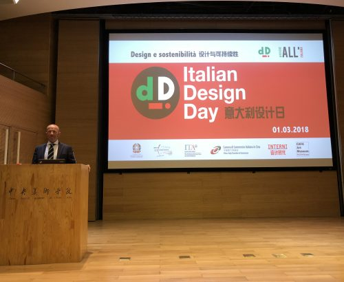 Massimo Roj Italian Design Ambassador in Beijing for the Italian Design Day