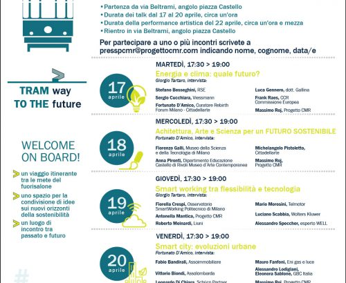 """Fuorisalone 2018 – The great program on """"Tram way to the future"""""""