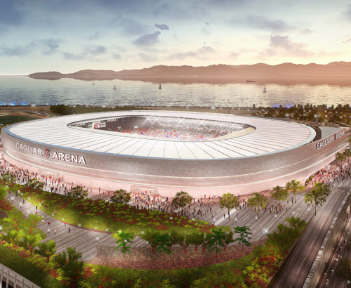New Cagliari Calcio Football Stadium